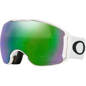 Oakley Airbrake XL Occhiali da neve Uomo, polished white/w prizm jade iridium/prizm sapphire iridium